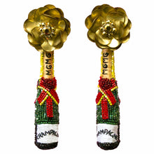 Load image into Gallery viewer, Mignonne Gavigan Champagne Earrings (Green & Gold)