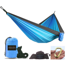 Load image into Gallery viewer, OKAN Outfitters Blue/Black Hammock