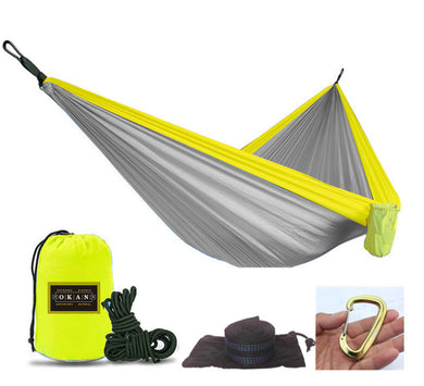OKAN Outfitters Grey/Yellow Hammock