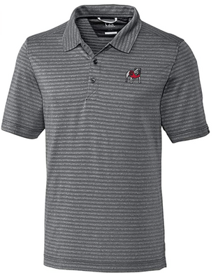 Cutter & Buck Men's Cascade Melange Striped Georgia Short Sleeve Polo