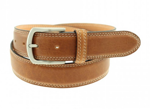 T.B. Phelps Raleigh Bison Belt (Tan)