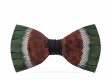 Load image into Gallery viewer, Brackish Feathered Bow Tie -The Mallard