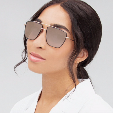Krewe Bolden Sunglasses (Matte Black + 24K Titanium Mirrored)