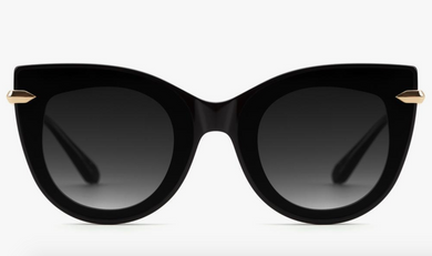 Krewe Laveau Nylon Sunglasses (Black & Crystal Grey Gradient Lens)