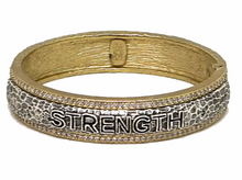 Load image into Gallery viewer, Tat2 Designs Strength Bangle Bracelet (Gold)