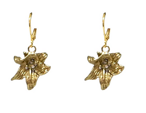 Tat2 Designs Lily Drop Earrings (Gold)