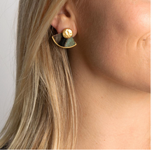 Load image into Gallery viewer, Brackish Huntley Fan Feather Earrings