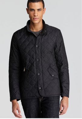 Barbour Flyweight Chelsea Quilted Mens Jacket (Black)
