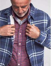 Load image into Gallery viewer, Faherty Sherpa Lined Plaid CPO (Vintage Blue Plaid)