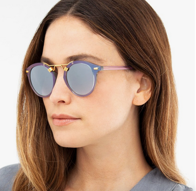 Krewe St. Louis Opal 24k Mirrored Sunglasses