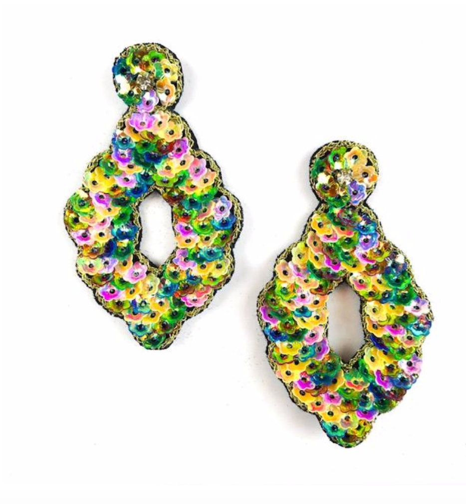 Allie Beads Party Earrings Multi