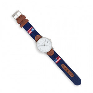 Smathers & Branson American Flag Needlepoint Watch