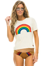 Load image into Gallery viewer, Aviator Nation Rainbow Boyfriend Tee (Vintage White)
