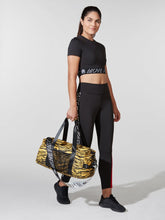 Load image into Gallery viewer, Pam & Gela Yellow Tiger Stripe Duffel