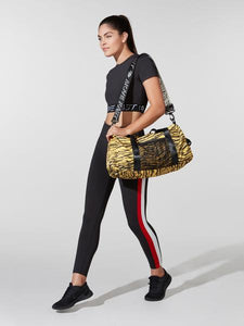 Pam & Gela Yellow Tiger Stripe Duffel