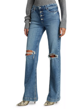 Load image into Gallery viewer, Paige Leenah with Exposed Button Fly Jeans (Magma Destructed)