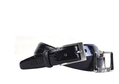 Martin Dingman Jefferson 3 Buckle Belt (Black)