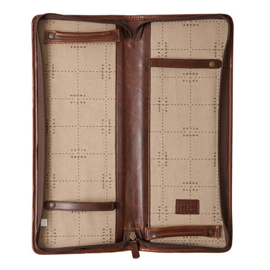Moore & Giles Evans Tie Case (Brown)