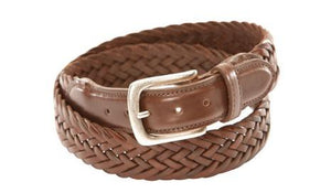 T.B. Phelps Maxwell Braided Leather Belt (Tan)