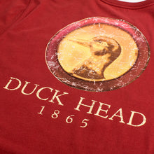 Load image into Gallery viewer, Duck Head Antique Gold Mallard T-Shirt  (Rosewood Red)