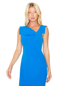 Black Halo Jackie O Dress (Blue)