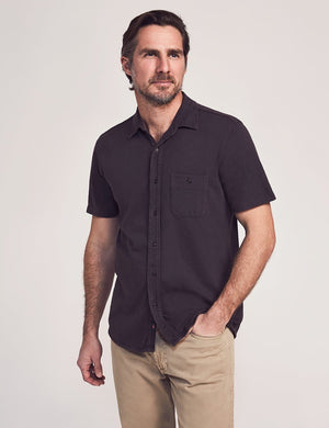 Products Faherty Short-Sleeve Knit Seasons Shirt (Weathered Black)