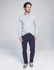 Faherty Stretch Terry 5-Pocket (Navy)