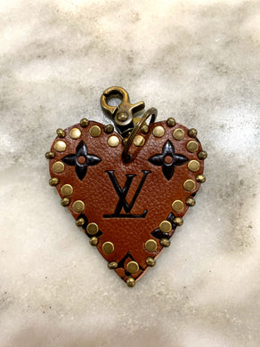 Vintage LV Heart Key Chain (Brown)