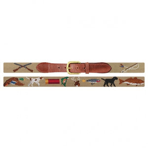 Smathers & Branson Men's Needlepoint Belt (Southern Sportsman)