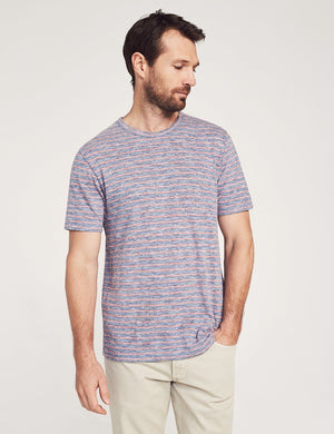 Faherty Short-Sleeve Heather Striped Tee