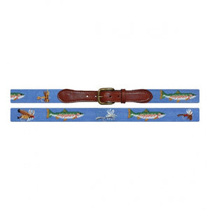 Smathers & Branson Trout and Fly Needlepoint Belt