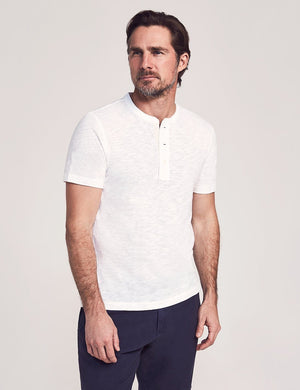 Faherty Short-Sleeve Heather Henley