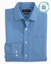 "Load image into Gallery viewer, Southern Tide ""BRRR"" Intercoastal Performance Sport Shirt (Cobalt Blue)"