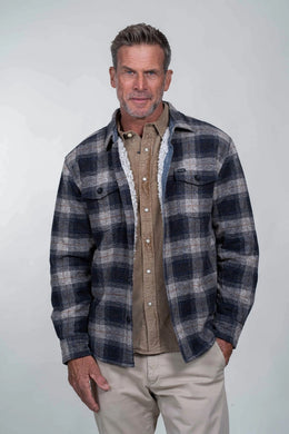 True Grit Wyatt Shirt Jacket (Charcoal)