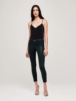 L'AGENCE Margot High Rise Skinny (Evergreen Coated)