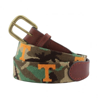 Smather's & Branson Needlepoint Belt (Tennessee Camo)