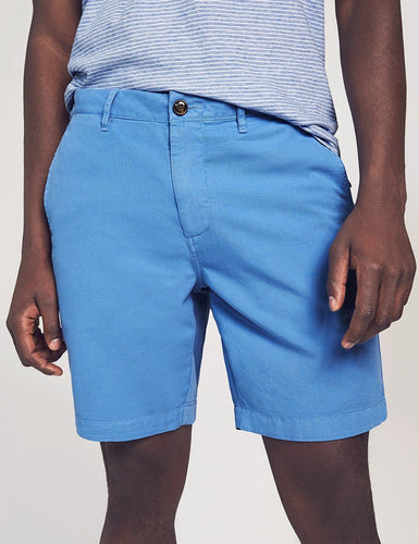Faherty Cloud Cotton Harbor Short in Faded Cobalt