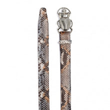 Load image into Gallery viewer, Claris Virot Python Stone Grey Beatle Belt