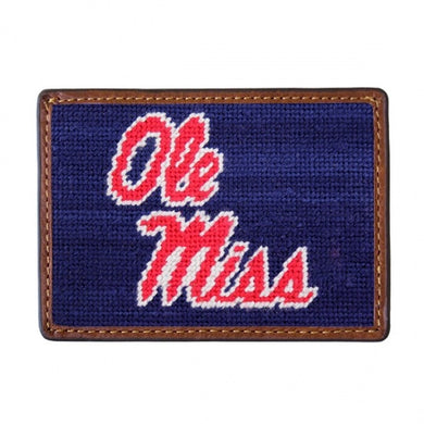 Smathers & Branson Needlepoint Card Wallet (Ole Miss)
