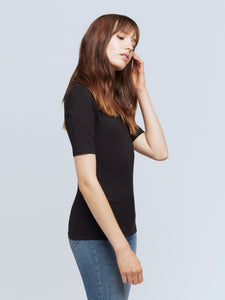 L'AGENCE Casey Tee (Black)