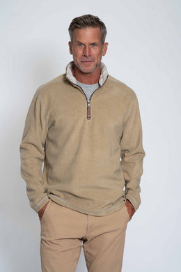 True Grit Melange Soft Fleece 1/4 Zip Pullover (Gravel)