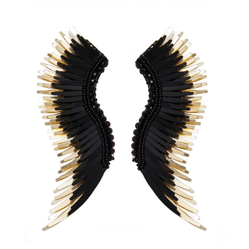 Mignonne Gavigan Madeline Earrings in Black/Gold
