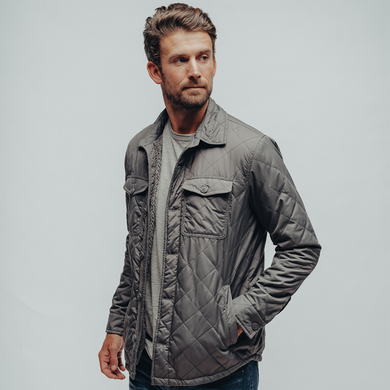 The Normal Brand Quilted Sherpa Lined Shacket (Charcoal)