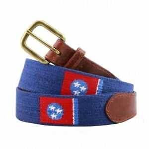 Smathers & Branson Needlepoint Men's Belt (Tennessee State Flag)