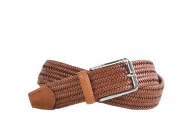 Martin Dingman Lexington Braided Italian Leather Stretch Belt