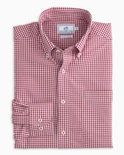 Load image into Gallery viewer, Southern Tide Intercoastal Shirt (Cherry Red / Micro Gingham)