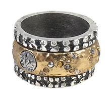 Load image into Gallery viewer, Tat2 Designs Silver Bando Ring