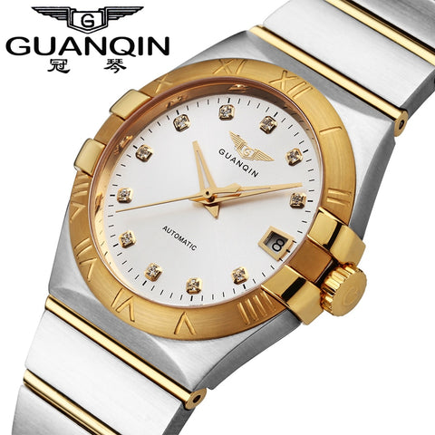 Mechanical Watches Luxury GUANQIN Gold Diamond