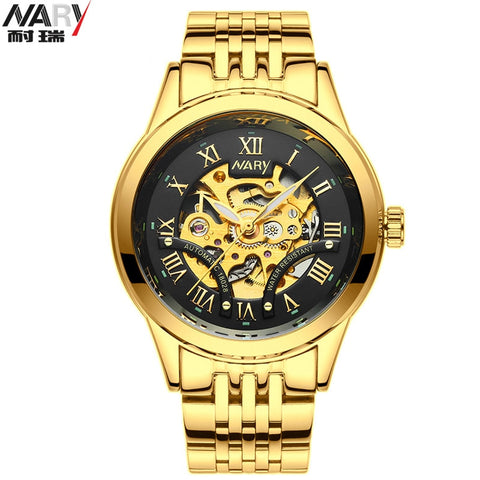 NARY Black Gold Men Watch