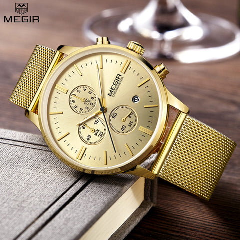 MEGIR Gold Men Watch